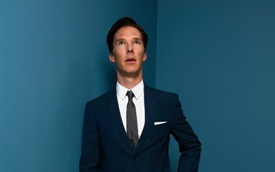 Benedict Cumberbatch, photoshoot, british actor, blue costume, popular british actors