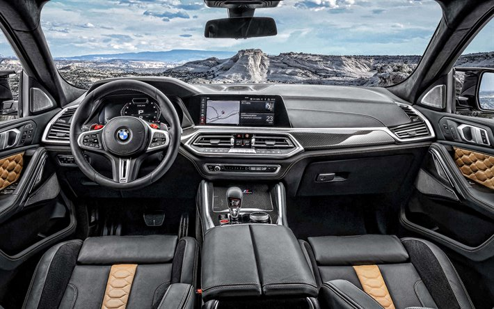 Download Wallpapers 2020 Bmw X6m Interior Inside View