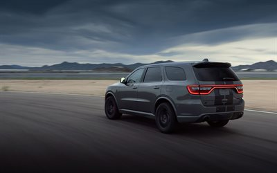 Dodge Durango SRT Hellcat, 2021, exterior, most powerful serial crossover, tuning Durango, new gray Durango, American cars, Dodge