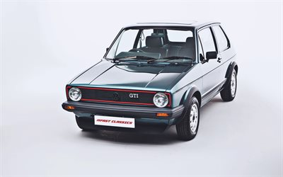 Volkswagen Golf GTI 3-door, retro cars, 1982 cars, Typ 17, UK-spec, 1982 Volkswagen Golf, Volkswagen