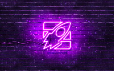 4k, Rocket neon icon, creative, violet background, Start-Up concepts, neon symbols, Rocket, Start-Up icon, neon icons, Rocket sign, business signs, Rocket icon, business icons, Start-Up