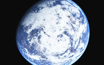 Earth, open space, view of the Earth from space, solar system, planet