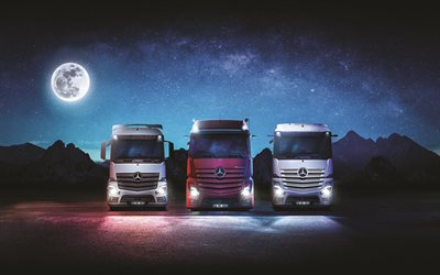 Mercedes-Benz Actros, 2020, front view, exterior, trucking, new Actros, german trucks, Mercedes