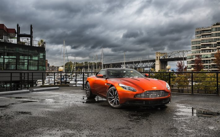 Download Wallpapers Aston Martin Db11 2016 Cars Orange Aston Martin Orange Db11 For Desktop Free Pictures For Desktop Free