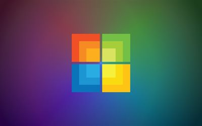 Windows, square logo, creative, minimal, Microsoft Windows