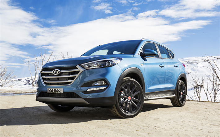 download wallpapers hyundai tucson 4k 2017 cars special edition crossovers blue tucson. Black Bedroom Furniture Sets. Home Design Ideas