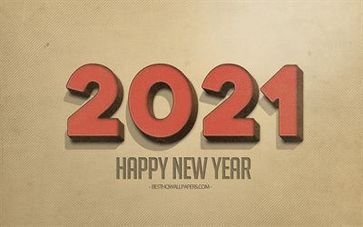 2021 Retro background, 2021 concepts, Happy New Year 2021, retro 2021 art, 2021 New Year