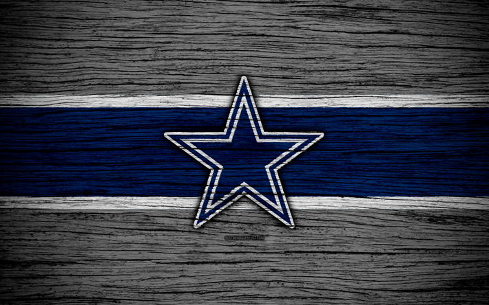 Download Wallpapers Dallas Cowboys, NFL, NFC, 4k, Wooden