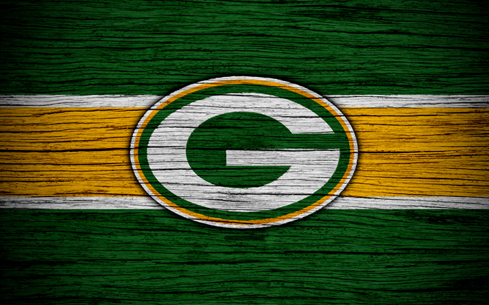 Green Bay Packers Wallpaper >> Download wallpapers Green Bay Packers, NFL, NFC, 4K, wooden texture, American football, logo ...