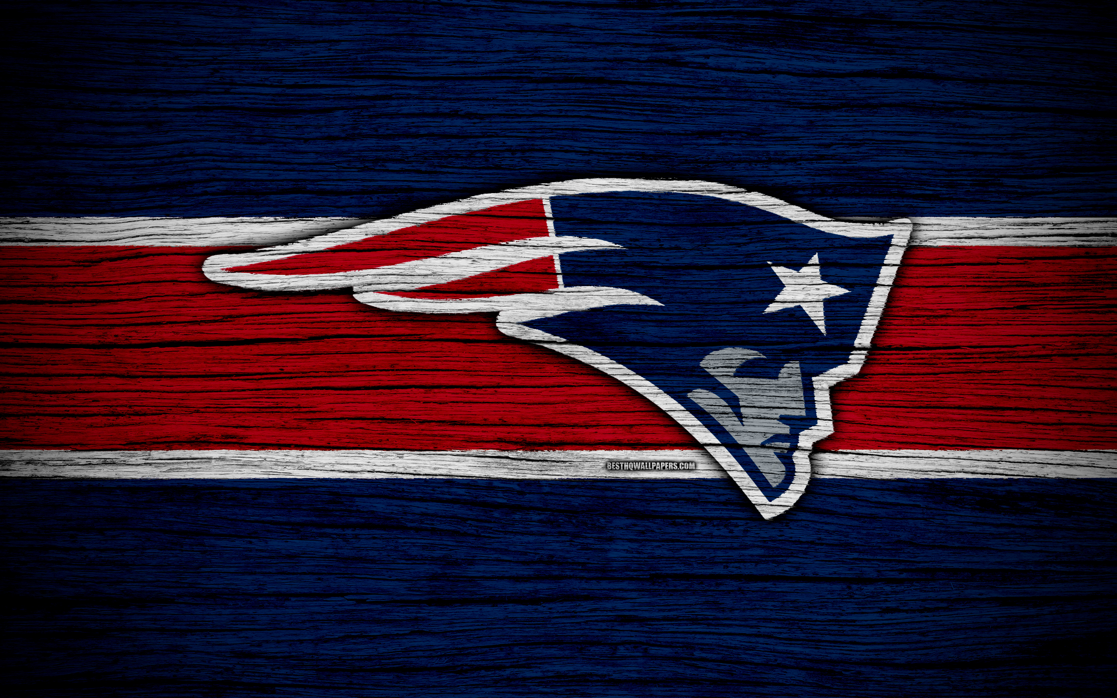 Download Wallpapers New England Patriots, NFL, American