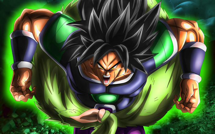 Download Wallpapers Broly 4k Green Fire Dragon Ball Artwork Dbs