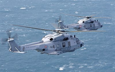 NHI NH90, French military transport helicopters, military helicopters, France, Marine Nationale, French Navy, French Armed Forces, Eurocopter