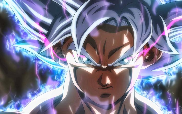 Scarica Sfondi 4k Ultra Istinto Di Goku Verticale Violetta Fuoco