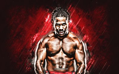 JTG, WWE, American wrestler, Jayson Anthony Paul, portrait, red stone background, USA