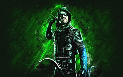 Green Arrow, süper kahraman, Oliver Queen, yeşil taş zemin, Green Arrow karakteri