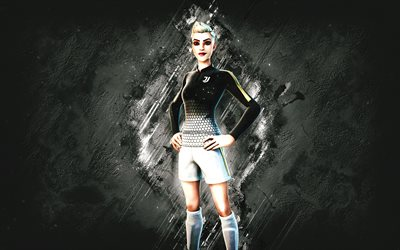Fortnite Striker Specialist Skin, Fortnite, Fortnite Fortnite Skin, white stone background, Striker Specialist, Fortnite skins, Striker Specialist Skin, Striker Specialist Fortnite, Fortnite characters, Juventus Fortnite