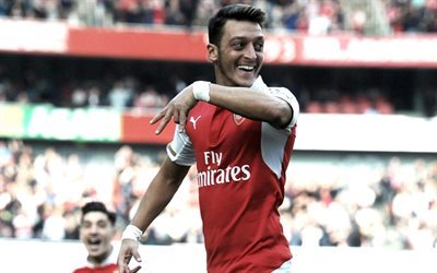 Arsenal, Mesut Ozil, goal, football stars, soccer, footballers, Premier League