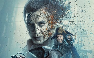 Pirates of the Caribbean, Dead Men Tell No Tales, 2017, New movies, poster, promo, Johnny Depp, Orlando Bloom