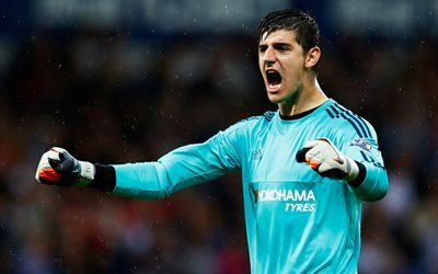 Thibaut Courtois, goalkeeper, footballers, Chelsea FC, Premier League
