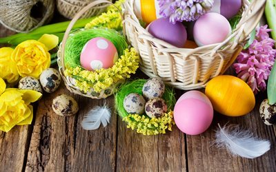 Easter, spring holidays, Easter eggs, spring, Easter decoration