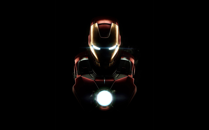 Download Wallpapers 4k Iron Man Darkness Superheroes Dc Comics