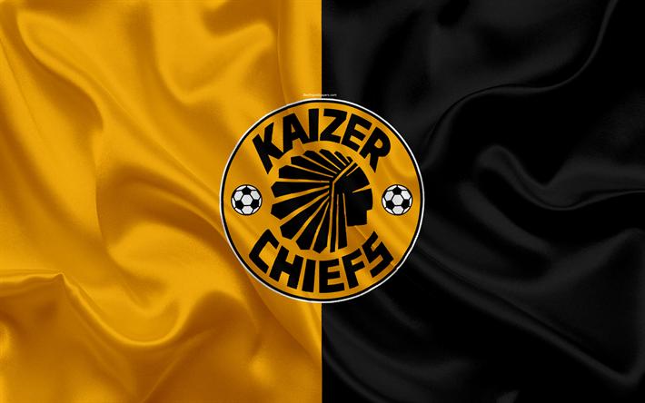 Download Wallpapers Kaizer Chiefs Fc 4k Logo Orange Black Silk Flag South African Football Club Emblem Premier League Johannesburg South Africa Football Silk Texture For Desktop Free Pictures For Desktop Free