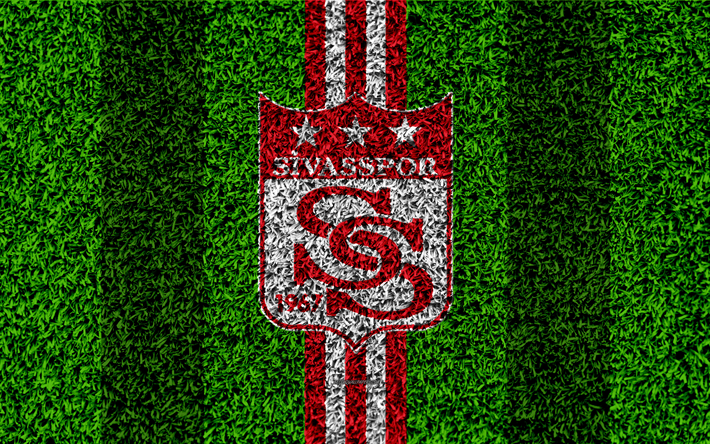Download Wallpapers Sivasspor FC 4k Football Lawn Logo