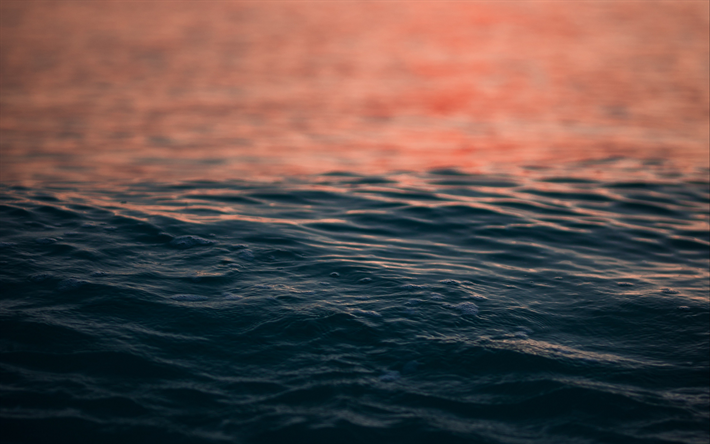 sea, water, sunset, mood concepts, evening, waves