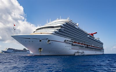 Carnival Dream, cruise ship, white big ship, cruise liner, luxury ships, sea