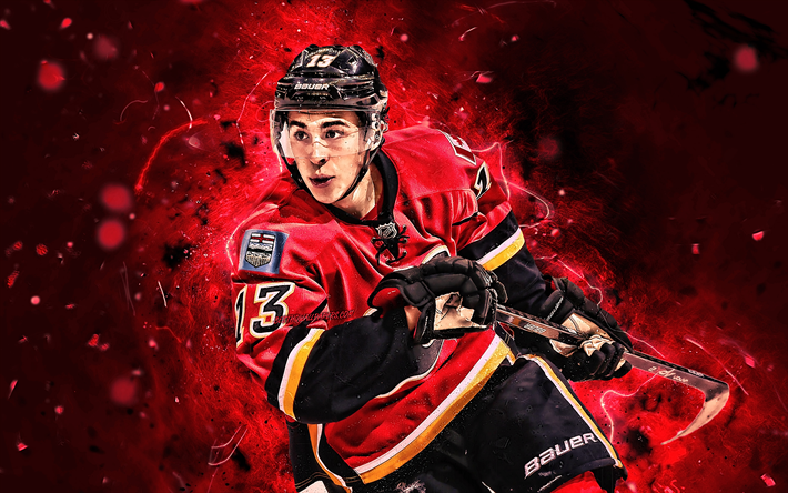 Download Wallpapers Johnny Gaudreau, Hockey Players