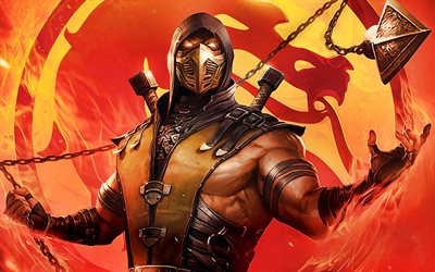 Scorpion, poster, 2020 movie, Mortal Kombat Legends Scorpions Revenge, Mortal Kombat
