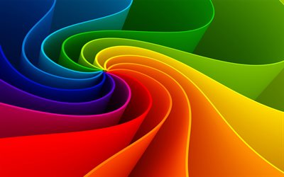 colorful vortex, 3D art, creative, rainbow backgrounds, artwork, background with vortex