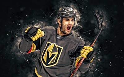 Max Pacioretty, 4k, Vegas Golden Knights, NHL, hockey players, neon lights, hockey stars, Maximillian Kolenda Pacioretty, hockey, USA, Max Pacioretty 4K, Max Pacioretty Vegas Golden Knights