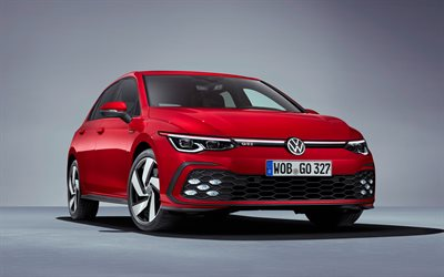Volkswagen Golf GTI, 4k, studio, en 2020, les voitures, berlines, Volkswagen Golf, german cars, Volkswagen
