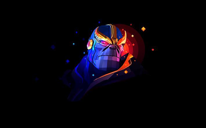 Download Wallpapers 4k Thanos Minimal 2018 Movie