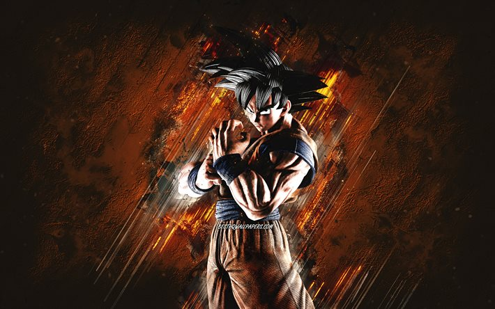 Son Goku Black, orange stone background, DBZ, Son Goku art, Dragon Ball Z, Son Goku DBZ, Dragon Ball Z Goku, Son Goku, grunge art
