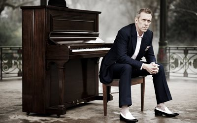 Hugh Laurie, British actor, man in a suit, famous actors