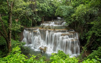 Thailand, tropics, waterfalls, national park, forest