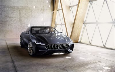 BMW 8-Series Concept, 2017, Front view, new cars, BMW 8, German cars