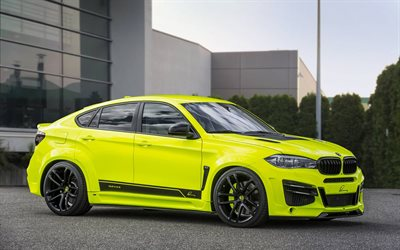 Lumma Design, tuning, BMW X6 M, F16, 2017 cars, german cars, yellow x6, BMW