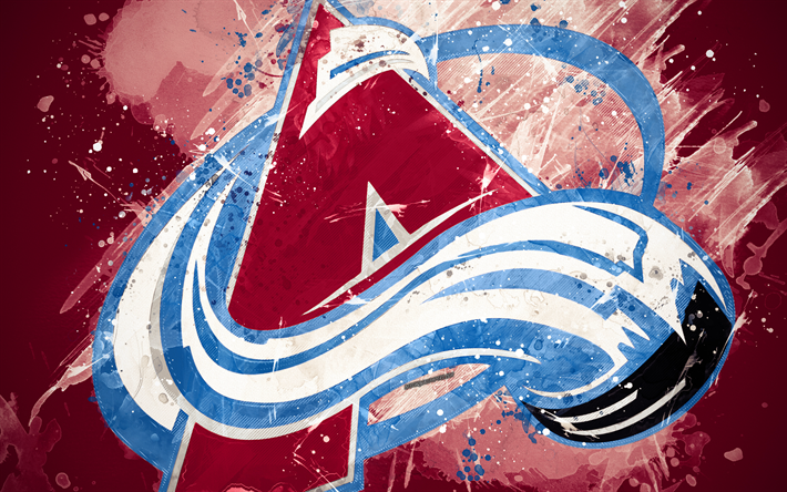 Download wallpapers Colorado Avalanche, 4k, grunge art ...