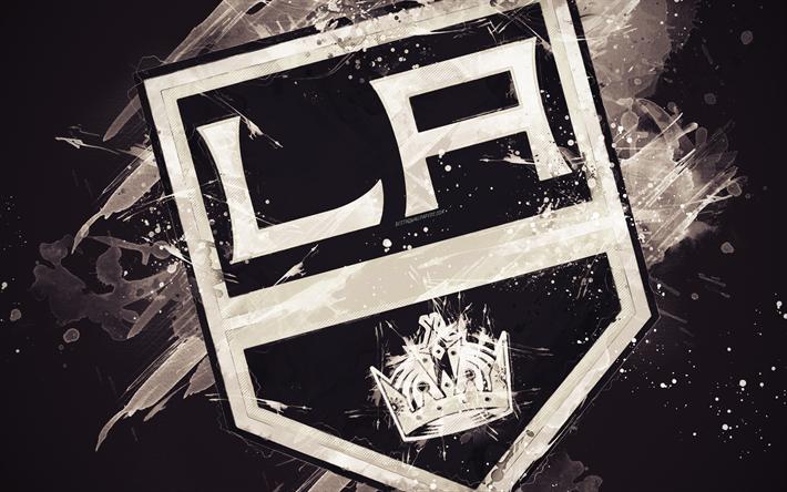 Herunterladen Hintergrundbild Los Angeles Kings 4k Grunge