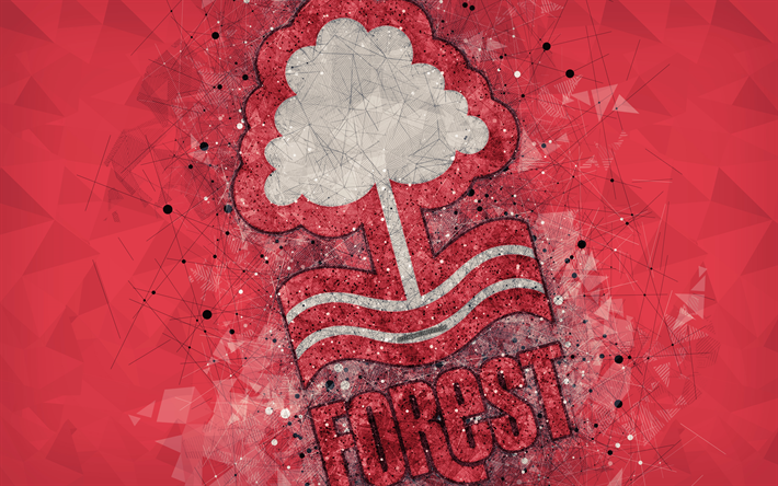 Download Wallpapers Nottingham Forest FC, 4k, Geometric