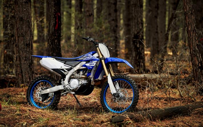 Download Wallpapers Yamaha Yz250 Offroad 2018 Bikes Motocross