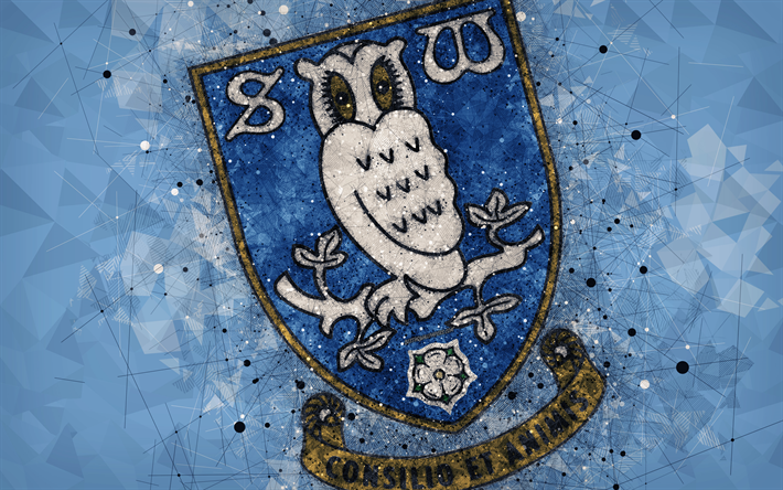 Download Wallpapers Sheffield Wednesday FC, 4k, Geometric