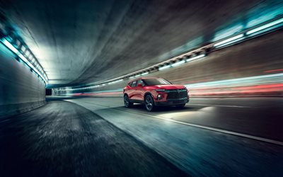 4k, Chevrolet Blazer RS, road, 2019 cars, crossovers, american cars, Chevrolet