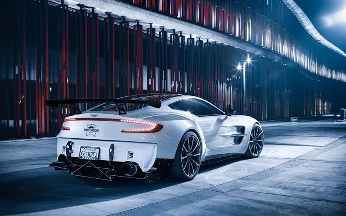 Herunterladen Hintergrundbild Aston Martin One 77 2018 Ansicht Von Hinten Weiß Supersportwagen Tuning One 77 Der Neue White One 77 Britische Luxus Sportwagen Aston Martin Für Desktop Kostenlos Hintergrundbilder Für Ihren Desktop Kostenlos