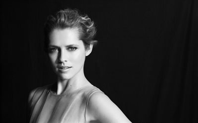 Teresa Palmer, Australian actress, portrait, beautiful woman, monochrome