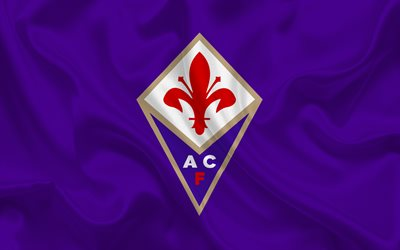 Fiorentina, Football club, emblem, logo, Italy, Florence, football, purple silk, Serie A