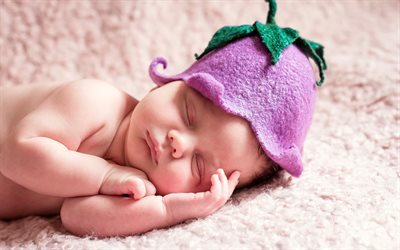sleeping, cute, sleep, newborn, baby, cap, child